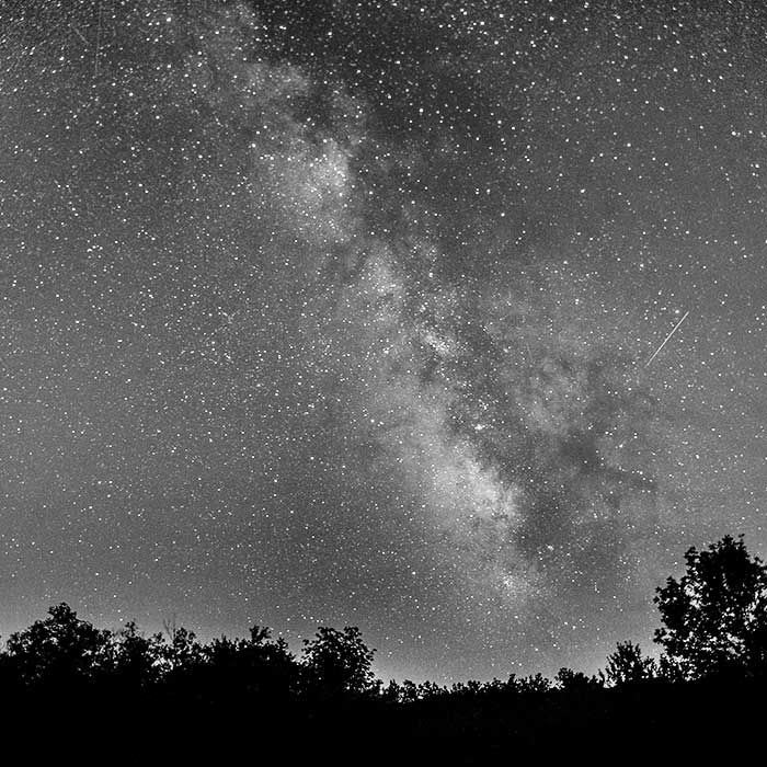 Night sky bw